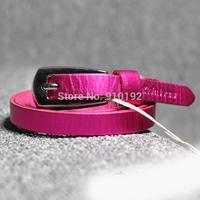 ladies fashion leading color pure leather belt thin fluorescent Korean models Belts
