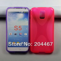 X line TPU Case for Samsung GALAXY S5 S V i9600 Free shipping
