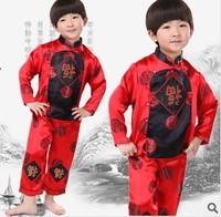 Autumn child tang suit male child autumn tang suit set baby tang suit
