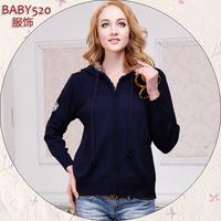 New Arrival Fashion plus size clothing mm spring top set plus size plus size sweater coat  Hot Sale