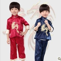 Autumn child tang suit performance wear spring male child long-sleeve tang suit set baby tang suit
