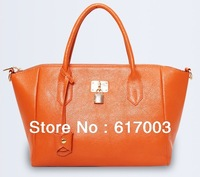 2014 Women's Genuine Leather Handbag Casual Women Shoulder Bag Fashion Ladies Totes Bags High Quality + Free Shipping