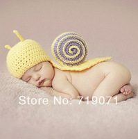 2014 Euramerican style children clothing photography baby handmade wool snail Baby Hat
