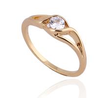 CZ Fashion Jewelry 18K Gold Plated Trendy Wedding Ring Mix $10 Free Shipping