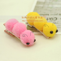 Child hair clips cartoon animal caterpillar hairpin bb clip bangs clip baby side-knotted clip hair accessory