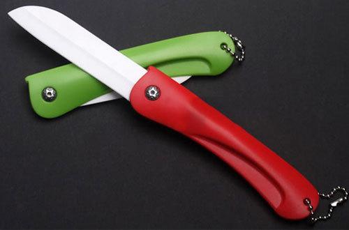 Kitchen Cutlery Ultra Sharp Ceramic Vegetable Fruit Folding Foldable Knife 43396