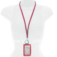 Free shippping Wholesale bling lanyard rhinestone neck lanyard strap with ID badge holder