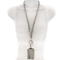 Rhinestone Bling Bling Crystal Lanyard Cell Phone + ID Badge Holder Free Shipping
