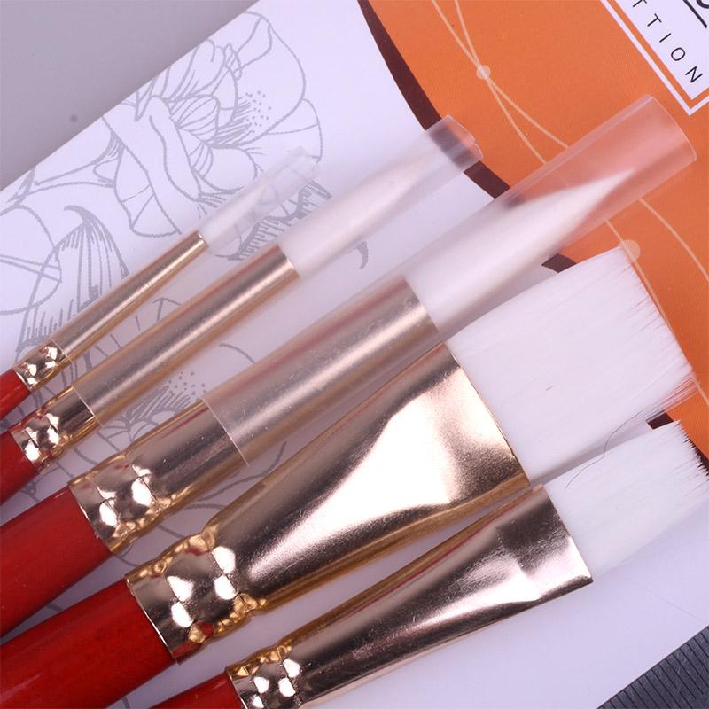 white NYLON Hair wood hand Acrylic Watercolor Tempera Painting Brush art brushes set 0032(China (Mainland))