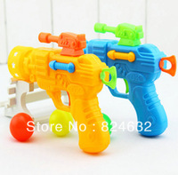 Free shipping hot sale Elasticity Table tennis Gun cute children Toy gun Creative novelty  2pcs/lot