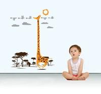 Free shipping!!  JM7082 animals giraffe wall stickers kids room wall sticker 60*90cm