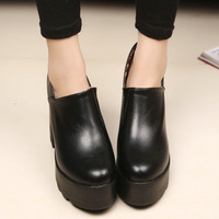2014 fashion thick heel platform high-heeled shoes round toe casual boots female shoes