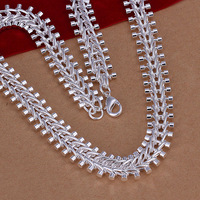 2014 New arrival!!! 12mm Men's jewelry 925 sterling silver snake chain necklace For Christmas Gift 18 INCHS * 12 MM