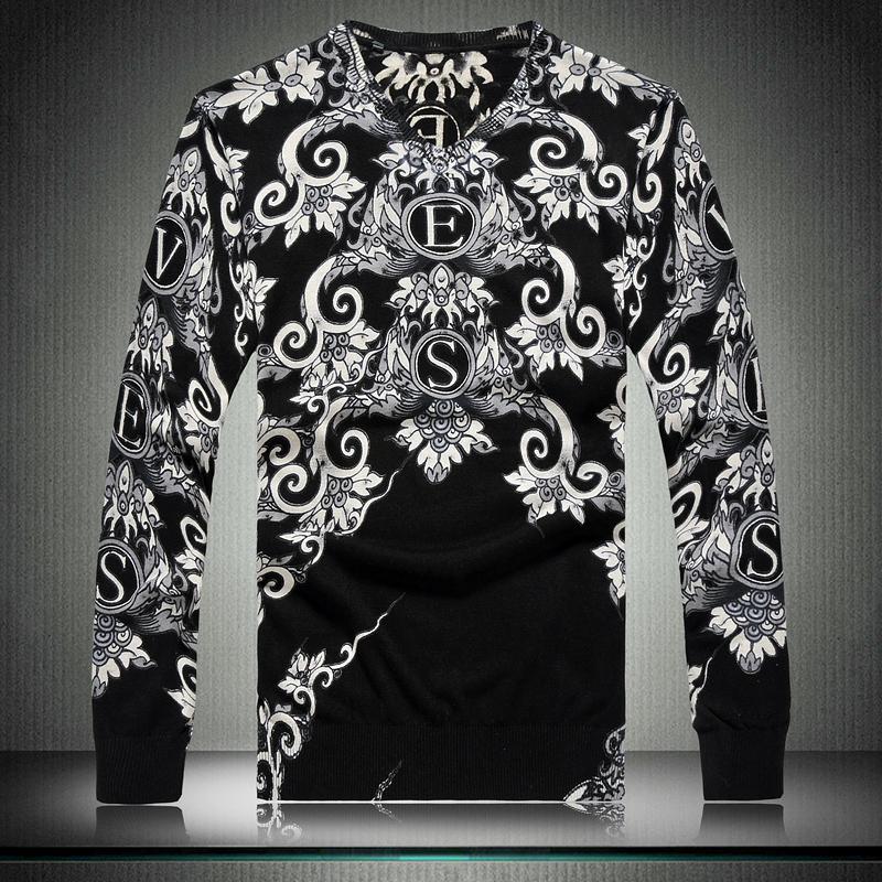 High Quality Mens Sweaters 2014 Ofnanyi Cotton Casual Dragon Knitwear Sweater Cardigan Pullover Big Size M - XXXL drop ship(China (Mainland))