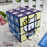 Free shipping children toy Intelligence magic cube 3x3x3  cartoon graphic patterns education toy 1pcs