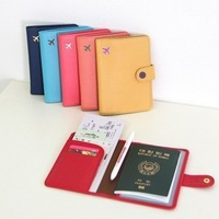 2014 New plane Short design multifunctional leather travel passport holder passport bag passport cover 3010906