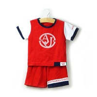 2014 New  Free Shipping 5sets/lot popular fashion baby boys summer suits kids summer costumes t-shirt+pants 2pcs 4235