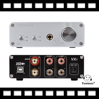 TOPPING VX1 2*25W T-AMP Tripath Stereo Hi-Fi Power Subwoofer Amplifier USB DAC US Digital Amplifier