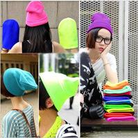 Free Shipping Hot Sale 2013 Fashion Knitted Neon Women Beanie Girls Autumn Casual Cap Women's Warm Winter Hats Unisex L059