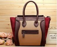 famous brands women handbag women leather handbags new 2014 women messenger bags hot sale genuine leather smile bags women