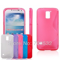 10pcs/lot Colorful S Line Wave TPU Soft Case Cover For Samsung Galaxy S5 i9600 Free Shiping