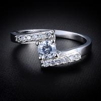 Free Shipping 2014 Trendy  Women Creative Rhinestone Platinum Plated Rings Wholesale 12pcs/lot