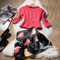 FREE SHIPPING Hot-selling 2014 spring and summer independent birds print set