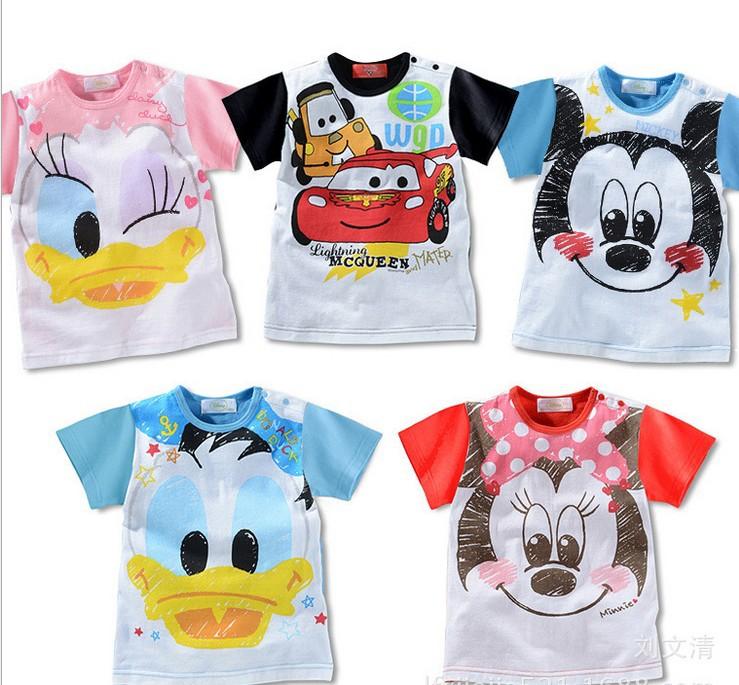 5pcs/lot 2014 New baby summer shirt sport vest singlet kid short clothing homewear 1-5years free shipping(China (Mainland))