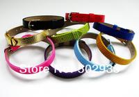 10pcs 10mm PU Wristband Bracelet DIY Accessories Fit Pet Collar
