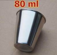 10 Pieces 80ml  Water Cups High Quality Stainless Steel Cups Crimping Edge Travelling Cup