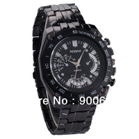 New Items Men Military Black Steel Analog Quartz Watch Fashion Brand Sport Watches Free Shipping
