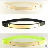 Free Shipping Fashion Ladies Mirror Belts Slim Belt Collar Wedding Dress Sequins Elastic Belts Stretch Waistband Belts For Women