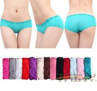 Hot new 2014 sexy Modal Low-waist beautifying hips Women Briefs Panties underwear 5 pcs / lot