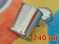 240ml Water Cups Creative Retractable Cup Stainless Steel Cup 155g