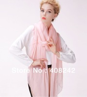 Free shipping Top sale  solid color lady's 100%   silk  scarf