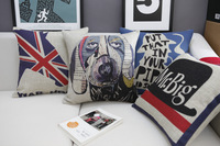 #736  Creative carton home carton Holmes fashion bedding sofa cushion cover pillow case free shipping  wholesale