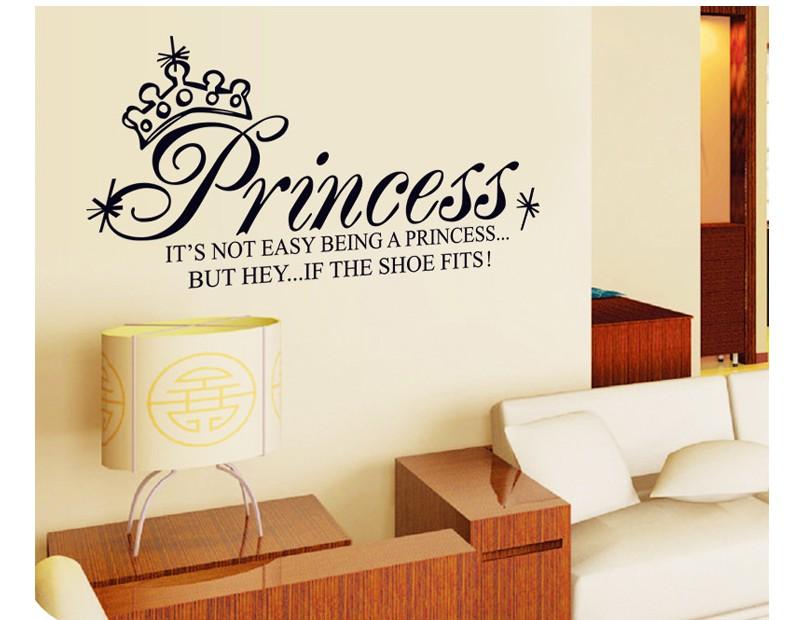cartoon princess home decor wall stickers for kids rooms diy bathroom decoration mirror poster. Black Bedroom Furniture Sets. Home Design Ideas