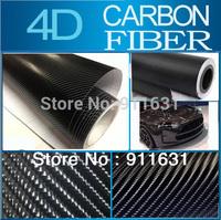 "40x152CM 16""x60"" Black 4D Carbon Fiber  4D Colored Glossy Carbon Fiber Vinyl Film/Auto Wrapping Vinyl Wrap Foil  Free Shipping"