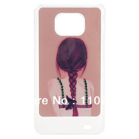 Free Shipping Girls Pattern Hard Back Cover Phone Case for Samsung Galaxy S2 I9100