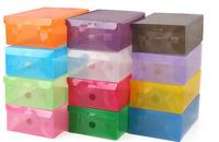 20pcs/lot PP plastic clear female size shoes box organizer 28*18*10cm
