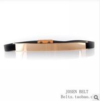 Fashion Design Gold Metal Belt Sequins Elastic belts Slim Belt Collar Wedding Dress Thin Skinny Woman Waistband Belts For Women