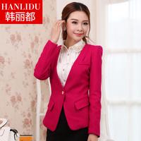 2013 suit slim woolen suit jacket female clothes