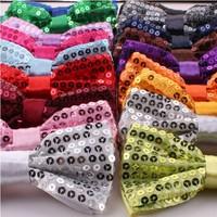 Cantata Wedding Dot sequins Bow Adults Kids Common Show tie 20 Color Size:12*6cm