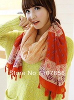 2014 Fashion New design Ladies  Fringe scarf   Free shipping