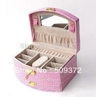 2014 new gift for woman jewelry set box hair jewelry box cosmetic bag offers jewelry display  jewelry organizer
