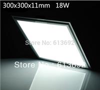 DHL free shipping SMD5630 Samsung chip square 300x300x11mm 1500lm 18W led panel light ceiling light led light panels