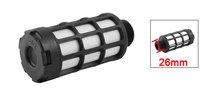 "26mm 3/4"" PT Male Threaded Pneumatic Exhaust Noise Sound Plastic Silencer Muffler"
