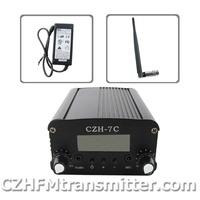 FMUSER CZH CZE-7C  7W  FM stereo PLL broadcast transmitter 76-108MHZ +rubber antenna kit