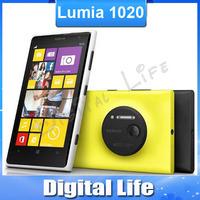 Original Lumia 1020 Nokia phone 41MP camera Dual core 1.5GHz 32GB ROM 2 GB RAM Window 8 OS 3G&4G phone with one year warranty