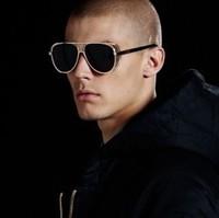 Free Shipping 2014 Original Famous designer Brand sunglasses Men sunglasses Cisco Gold  with original box